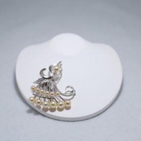Silverブローチ(あこや本真珠)